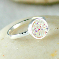 Druzy Ring,Drusy Ring,Drusy Quartz,Agate Ring,925 Sterling Silver!!