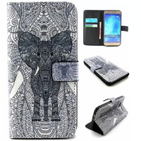 Aztec Style Elephant Print Leather Case Cover Wallet for iPhone & Samsung Galaxy