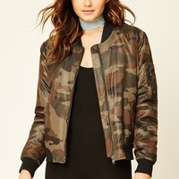 Camo Padded Bomber Jacket