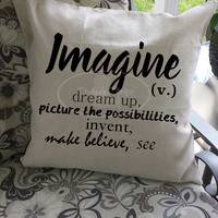 Imagine cotton throw pillow cover