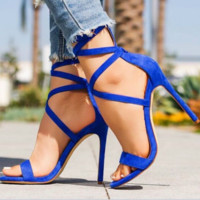 Hot style is a big seller of slim-looking open-toe sandals with cross-legged straps