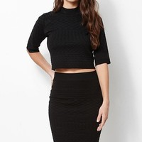 Kendall and Kylie Cropped Turtleneck Pullover Sweater at PacSun.com