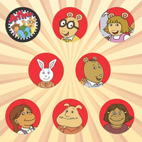 ARTHUR AARDVARK Set of 8 - 1 Inch Pinback Buttons or Magnets