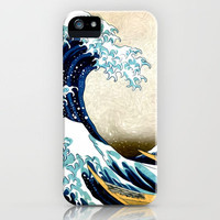 Kanagawa Oiled iPhone Case by Psocy Shop | Society6