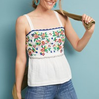 Charlemont Embroidered Peplum Top