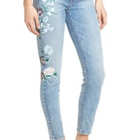 7 For All Mankind® Embellished & Ripped Ankle Skinny Jeans | Nordstrom