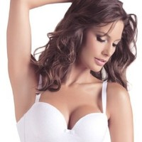 Laura Women's High Quality White Strapless Bra #101029