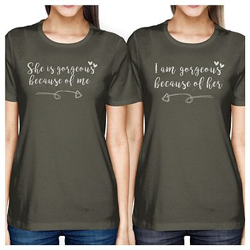 She Is Gorgeous Dark Grey Mom Daughter Matching Tops Gifts For Moms