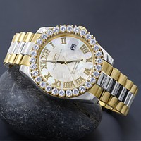 BLING MASTER OVERLORD STEEL CZ WATCH