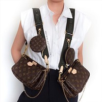 LV Multi Pochette Accessoires Mahjong Bag Shoulder Bag Three-piece Set