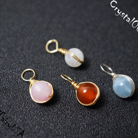 Additional wrapped genuine birthstone charms, silver stone charms, gold stone charms