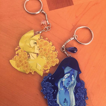 Blue Diamond & Yellow Diamond Steven Universe Key Chains