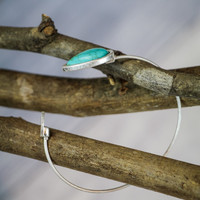 Cuff Bracelet in Silver and Turquoise