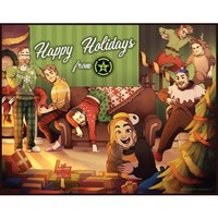 """Achievement Hunter 2016 Limited Edition Holiday Print (14"""" x 11"""")"""