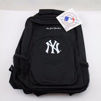 NEW MLB New York Yankees DraftDay Backpack, 18-Inch, Black