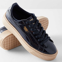 Puma Basket Platform Patent Sneaker | Urban Outfitters