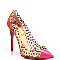 Christian Louboutin - Studded Patent Leather Pumps - Saks Fifth Avenue Mobile