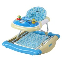 Dream On Me 2-in-1 Crossover Musical Walker & Rocker - Light Blue