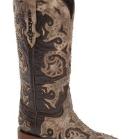 Women's LuccheseStudded Western Boot,