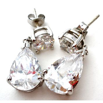 Cubic Zirconia Dangle 925 Earrings