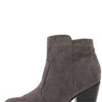 Heydays Grey Suede Ankle Boots