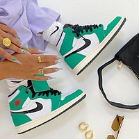 Nike Air Jordan 1 Retro High Lucky Green Basketball Shoes Sneakers Shoes