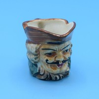 Miniature Toby Creamer Vintage Pirate Toby Mug Hand Painted Gun Handle Gift for Him Toby Collectible Shadowbox Desk Accessory Royal Doulton