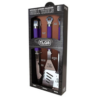 LSU Tigers NCAA 3-pc. Stainless Steel Barbecue Set