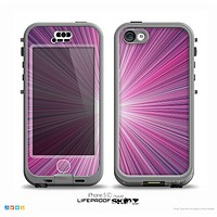 The Bright Purple Rays Skin for the iPhone 5c nüüd LifeProof Case