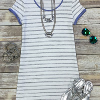 Simple Striped Tunic Dress