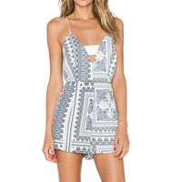 Finders Keepers Midnight Playsuit in Bandana Light
