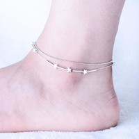 Shiny Stylish Jewelry Gift Sexy Ladies Cute New Arrival Bells Double-layered Classics Innovative Anklet [10427400340]