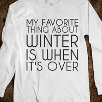 MY FAVORITE THING ABOUT WINTER