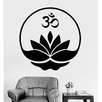 Wall Sticker Buddha Om Symbol Zen Lotus Meditation Vinyl Decal Unique Gift (z2917)