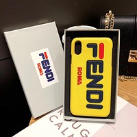 Fendi iPhone XS Max Mobile phone shell XR/8/7plus Mobile phone shell