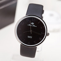 Brand Watch women 2015 New casual watch men Simple PU leather band quartz wristwatches relogio masculino montre femme