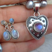 New moon blessed~LOVE~Talisman necklace~gift~Spell cast by a true Wicca Witch~love & luck spell~moonstone