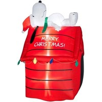 SheilaShrubs.com: Snoopy Lying on Doghouse - Peanuts 86365 by Gemmy Industries: Christmas Outdoor Decor