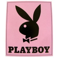 Playboy Blanket Throw - Classic Bunny Head with Tuxedo Couverture