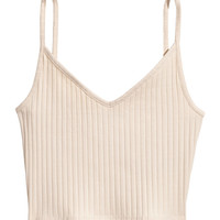 Short Jersey Camisole Top - from H&M