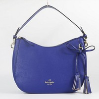 Newest Kate Spade Fashion Women Shopping Leather Tote Handbag Shoulder Bag Color Blue