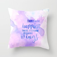think of the happiest things part two Throw Pillow by studiomarshallarts