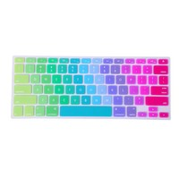 HDE Rainbow Pride Color Silicone Rubber Keyboard Skin Cover for Macbook Pro (Metallic Rainbow)
