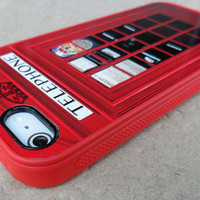 iPhone 5 rubber case LONDON Telephone British Phonebooth iPhone Case - Featured in German Magazin