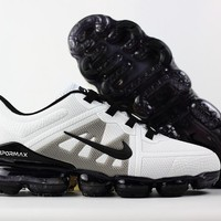 Nike Air VaporMax 2019 Black White Grey KPU Drop Plastic Upper Men Running Shoes - Best Deal Online