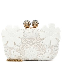 King and Queen lace clutch