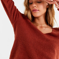 Truly Madly Deeply Lace Edged Sweatshirt | Urban Outfitters