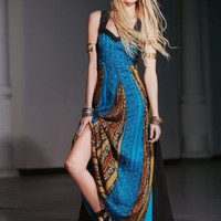 NWT $400 FREE PEOPLE CRINCLE STAR DUST OCEAN MAXI DRESS GOWN 2