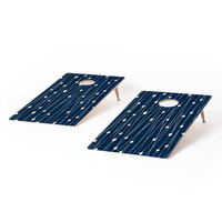 Heather Dutton Navy Entangled Cornhole Set