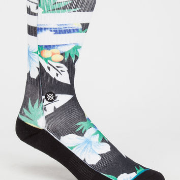 Stance Newport Classic Crew Mens Socks Yellow One Size For Men 26704460001